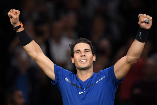 Rafael Nadal ends year on high with world number one ranking