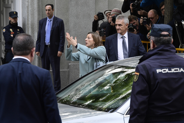 Catalan parliament speaker Forcadell due in court for 'sedition' hearing