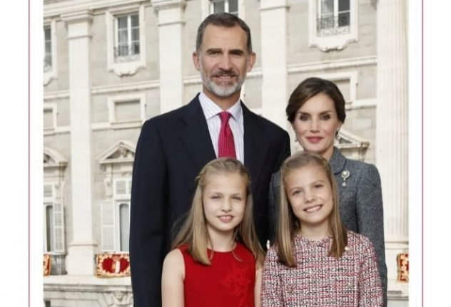 Spanish royals release official Christmas card