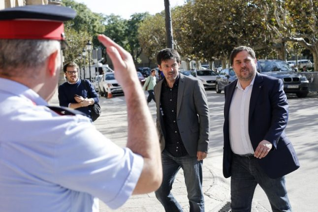 Jailed Catalan leaders could be freed as they face judge