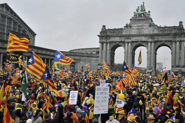 Catalans travel to Brussels in droves for massive pro-independence rally