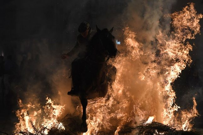 IN PICS: Horses 'purified' with fire in controversial Spanish ritual