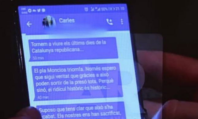 Puigdemont admits defeat in private messages caught on camera