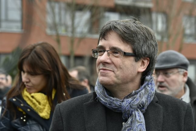 Ex-Catalan leader's party pledges to re-elect him remotely