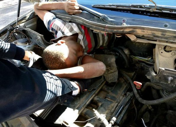Four migrants discovered hidden inside boot, bonnet and dashboard at Melilla border