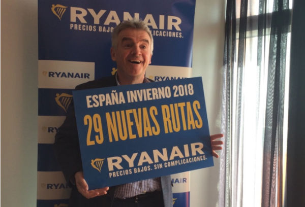 Ryanair introduces 29 new routes to Spain