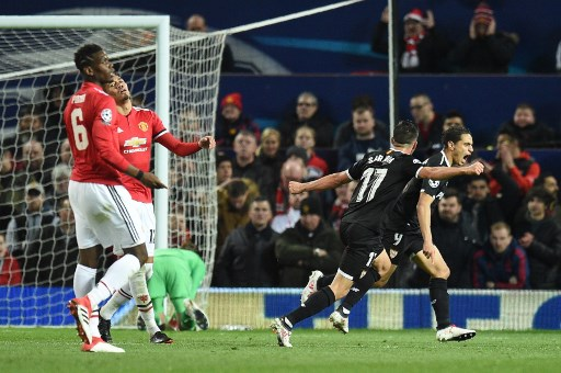 Sevilla make history by knocking Manchester United out of Champions League