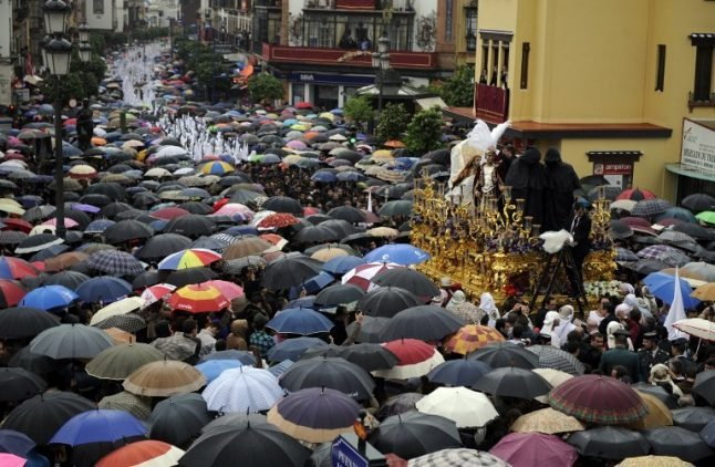 Easter weather: Spain set for rain on the parades