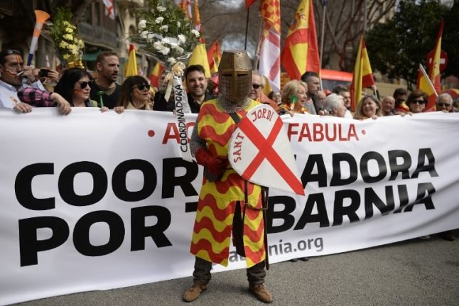 Anti-separatists in Catalonia march for fictional 'Tabarnia' region