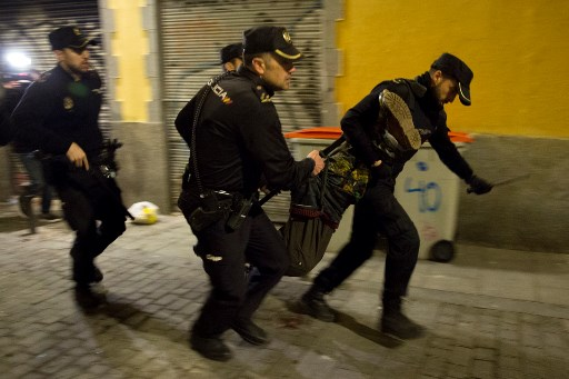 Six arrested in Madrid protest over migrant death