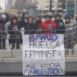 International Women's Day: Roads blocked and trains cancelled as women in Spain strike
