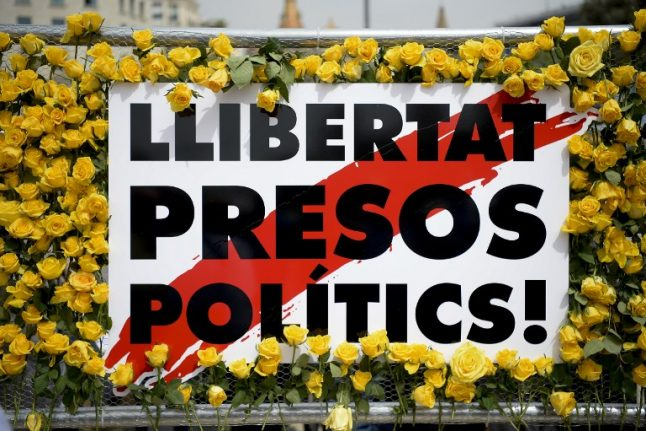IN PICS: Sant Jordi Day marked with yellow 'protest' roses