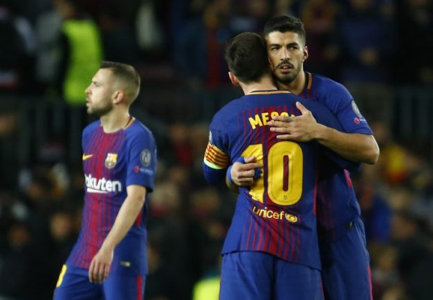 Two own-goals help Barça take charge of quarter-final against Roma