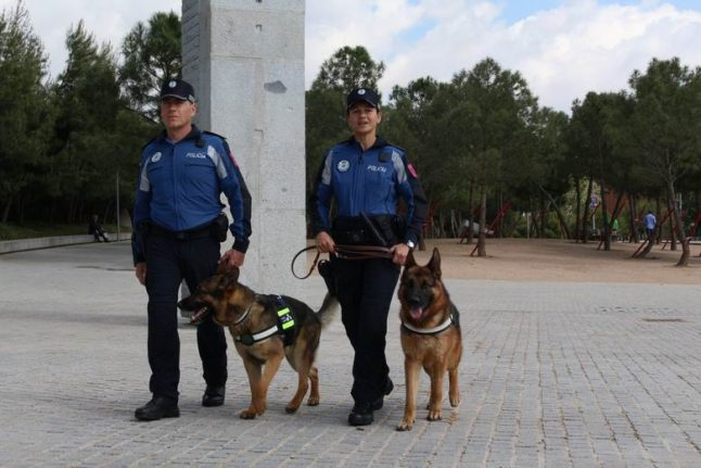 Madrid's police dogs are learning to relax with Mozart