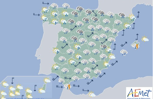 Storm warnings in place across Spain (including the islands)