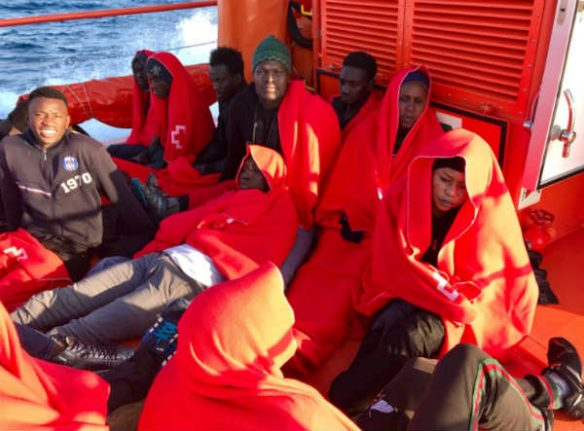 Spain saves over 500 migrants at sea over weekend