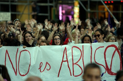 Fresh protest in Madrid against gang rape acquittal