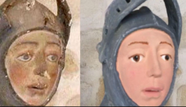 New botched restoration gives 500-year-old St George statue a cartoon face