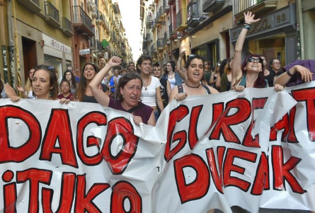 Protests in Spain as Pamplona sexual abuse 'Wolf Pack' released on bail