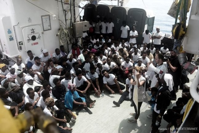 Fear, fatigue, relief on rescue boat for migrants heading to Spain