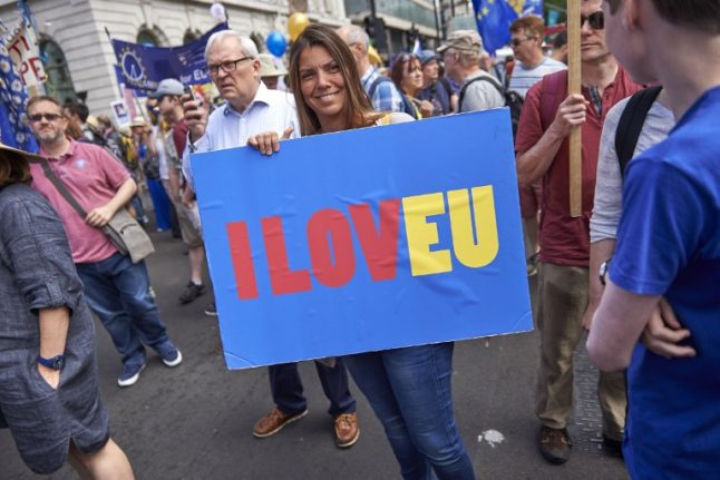 IN PICS: Spain Anti-Brexit groups join People's Vote march in London