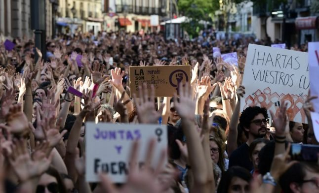 Spaniards continue to rail against release of sexual abuse gang