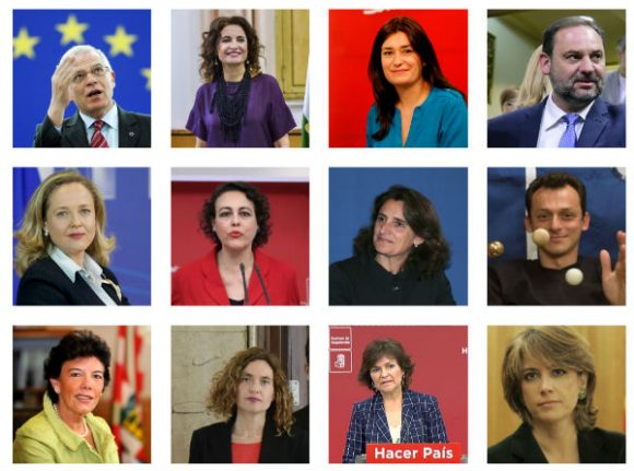 This is Spain's new cabinet
