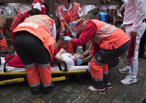 One gored, four hurt on first day of Spain's divisive bull run