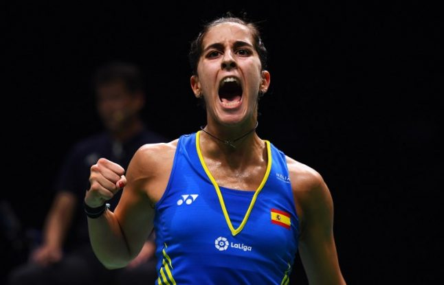 Spain's Marín first woman in history to win three badminton world titles