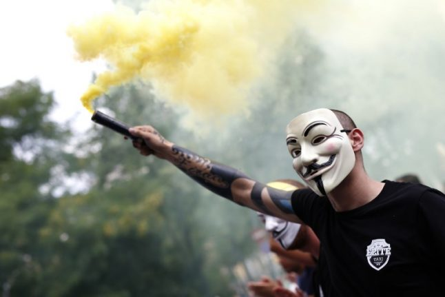 Anonymous hackers target Spain sites in Catalonia protest