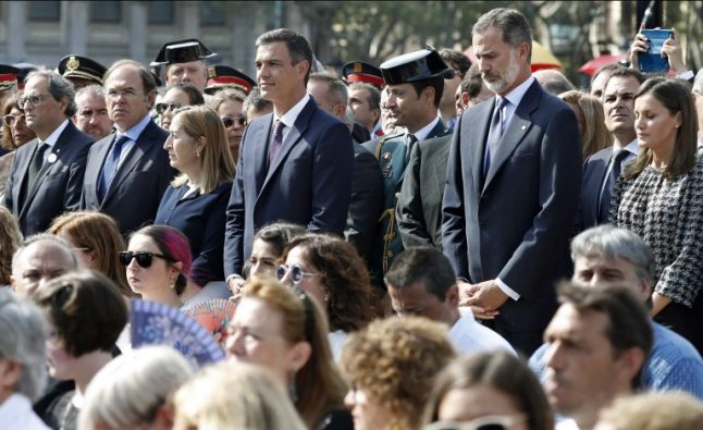 Catalan rift clouds Spain's homage to attack victims