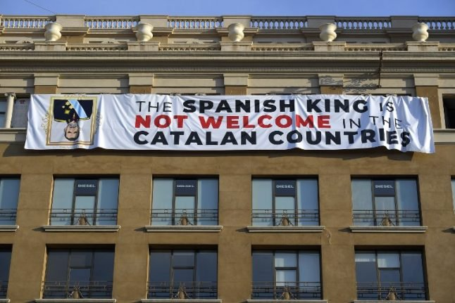 Anti-king banner unveiled in Barcelona ahead of attacks ceremony