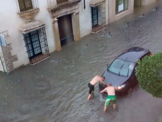 Storm and flood warnings for southern Spain and Costa del Sol