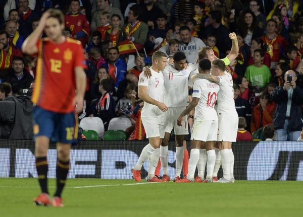 Sterling shines as England blow Spain away