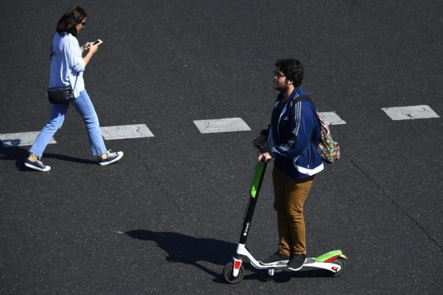 Madrid orders removal of electric scooters