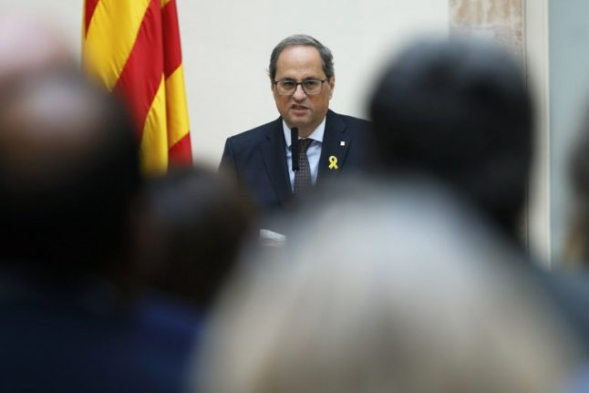 Catalan leader slammed for urging 'Slovenian route' to secession