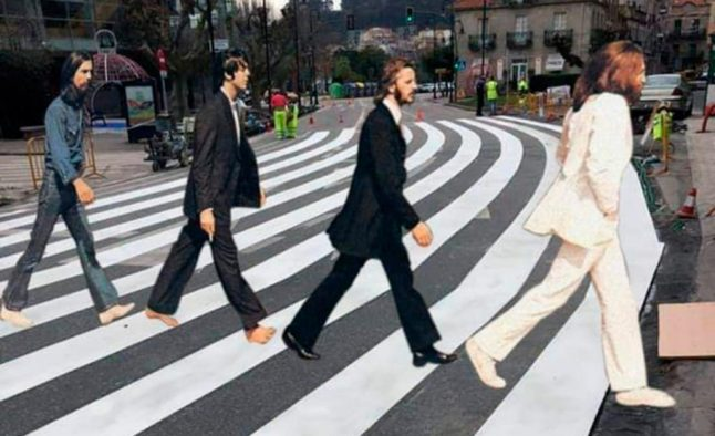 'It's a bit over the top': Spanish town goes viral with record 40-metre zebra crossing