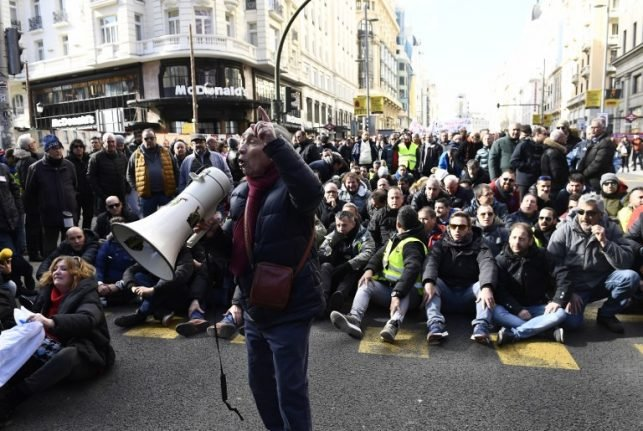 Spanish taxi strike against ride-hailing apps spreads to Madrid
