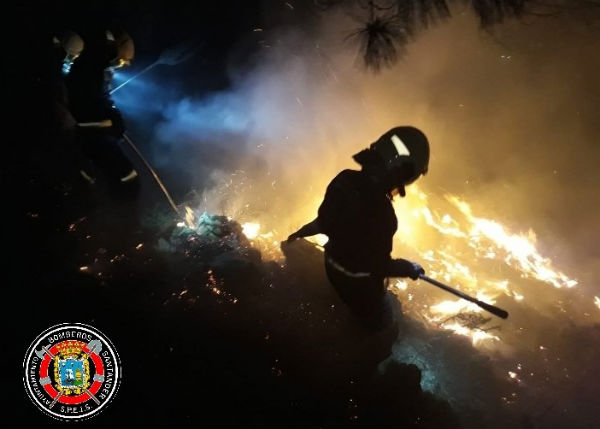 Firefighters battle hundreds of blazes set deliberately in northern Spain