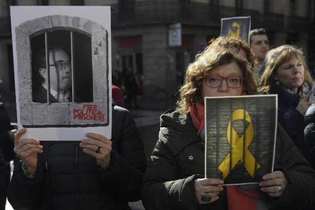 Jailed Catalan leaders moved to Madrid ahead of Feb 12 trial