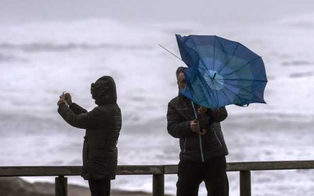 Storm 'Helena' sweeps across Spain bringing high winds, storms and flooding