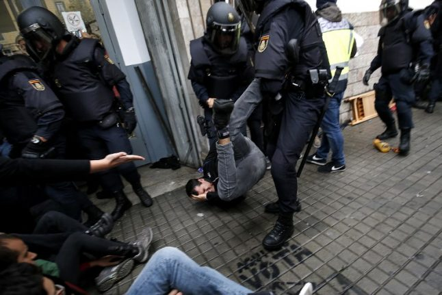 Spanish police give their version of Catalan referendum violence