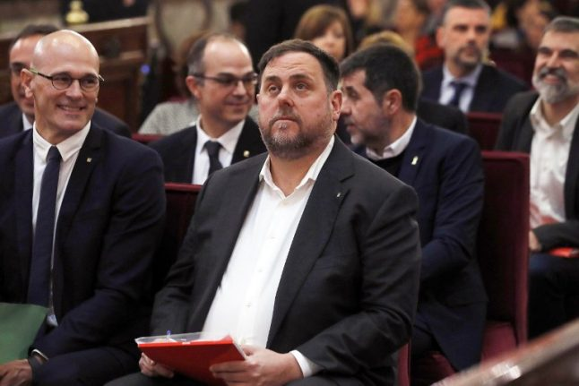 Jailed Catalan politician, Oriol Junqueras, named top candidate for EU polls