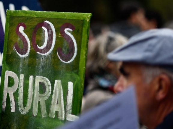 Crowds take to the streets over 'emptying' of rural Spain