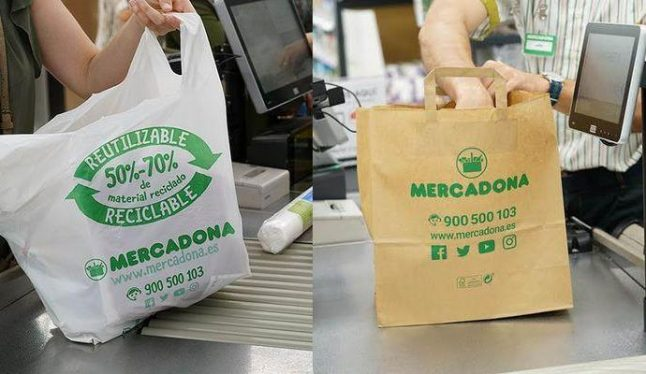 Spain's Mercadona supermarkets all but eliminate single-use plastic carrier bags