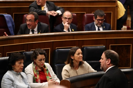 Day release: Jailed Catalan separatists take seats in Spanish parliament