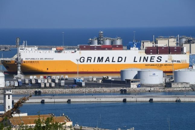 Fire hits ship carrying 1,800 cars off Spanish island of Majorca