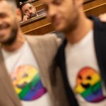 How a rainbow ghost stole the show on the first day of Spain's new parliament