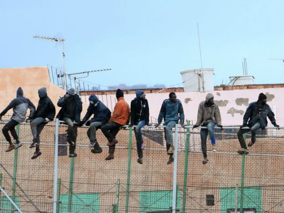 More than 50 migrants scale fence at Spain's Melilla enclave