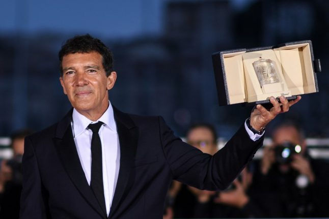 Banderas wins Cannes 'best actor' as Almodovar alter ego